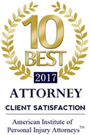 10 Best 2017 Attorney Client Satisfaction | American Institute Of Personal Injury Attorneys